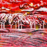Wind turbines, Pincher Creek, Celebrate Canada, Yvette Cuthbert, Artist
