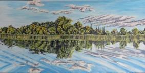 2' x 4', Acrylic, Yvette Cuthbert
