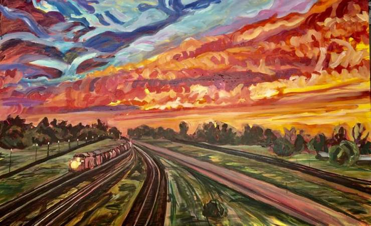 Train at Sunset in PLP